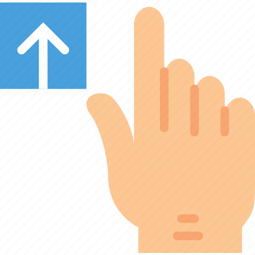 finger, gesture, hand, interaction, upload icon