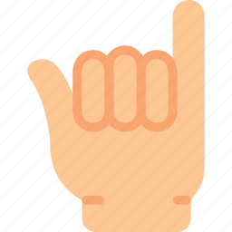 finger, gesture, hand, interaction, pinkie icon