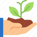 finger, gesture, hand, interaction, plant, scoop icon