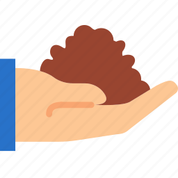 dirt, finger, gesture, hand, interaction, scoop icon