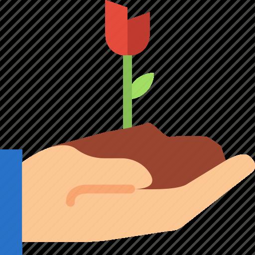 finger, flower, gesture, hand, interaction, scoop icon