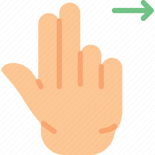 double, finger, gesture, hand, interaction, right, slide icon