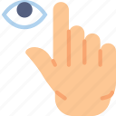 finger, gesture, hand, hide, interaction icon