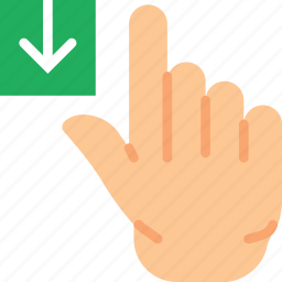 download, finger, gesture, hand, interaction icon