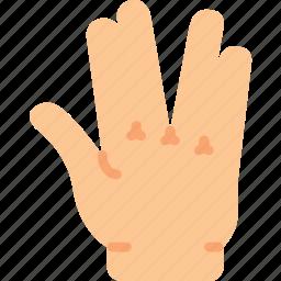 alien, finger, gesture, hand, interaction icon