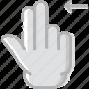 double, finger, gesture, hand, interaction, left, slide
