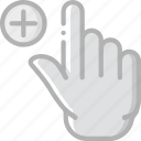 add, finger, gesture, hand, interaction