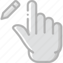 edit, finger, gesture, hand, interaction icon