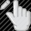 edit, finger, gesture, hand, interaction icon
