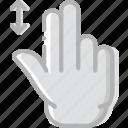 down, finger, gesture, hand, interaction, slide icon