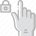 finger, gesture, hand, interaction, lock icon