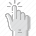 finger, gesture, hand, interaction, pinch icon