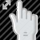 interaction, zoom, hand, finger, in, gesture