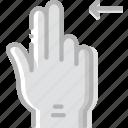 finger, gesture, hand, interaction, left, slide