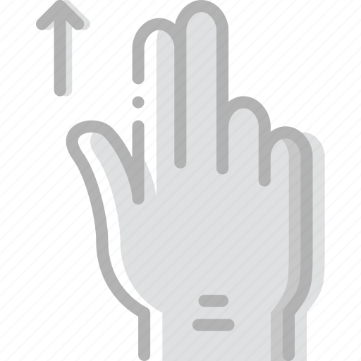 finger, gesture, hand, interaction, slide, up icon