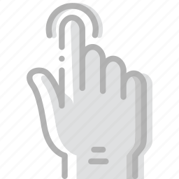 finger, gesture, hand, interaction, press icon