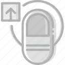 finger, gesture, hand, interaction, upload icon
