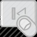 backward, finger, gesture, hand, interaction icon