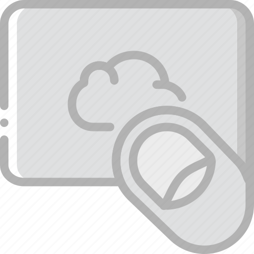 cloud, finger, gesture, hand, interaction, service icon