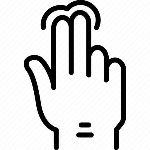 double, finger, gesture, hand, interaction, press icon