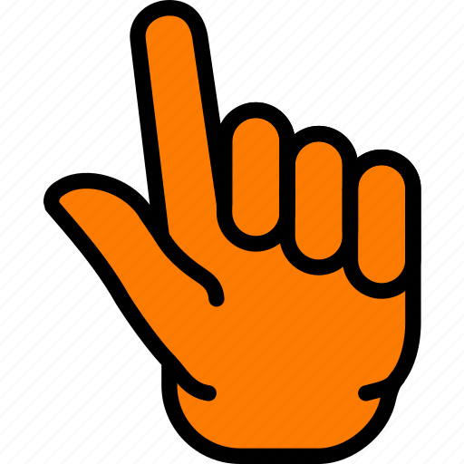 finger, fingers, gesture, hand, interaction, two icon