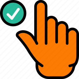 finger, gesture, hand, interaction, success icon