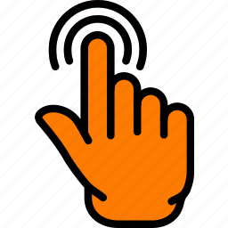 finger, gesture, hand, interaction, push icon
