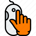 finger, gesture, hand, interaction, mouse, press icon