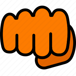 finger, fist, gesture, hand, interaction icon