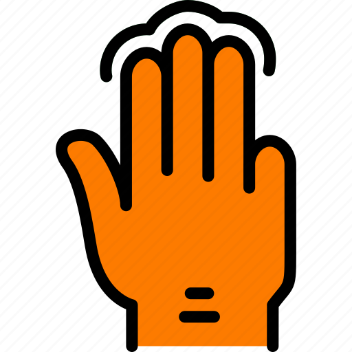 finger, gesture, hand, interaction, press, triple icon