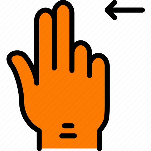 finger, gesture, hand, interaction, left, slide icon