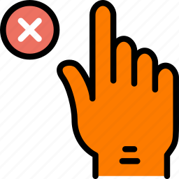 delete, finger, gesture, hand, interaction icon