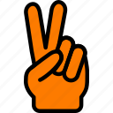 finger, gesture, hand, interaction, peace icon