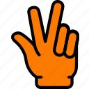 interaction, fingers, three, finger, hand, gesture