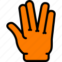 alien, finger, gesture, hand, interaction icon