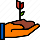finger, flower, gesture, hand, interaction, scoop icon