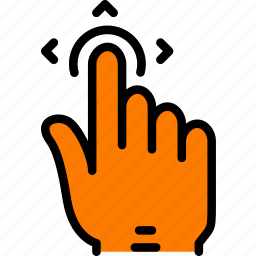finger, gesture, hand, interaction, move icon