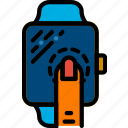 interaction, smartwatch, hand, finger, press, gesture