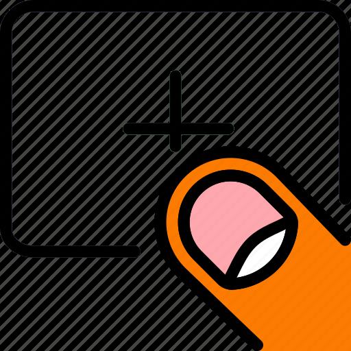 add, finger, gesture, hand, interaction icon