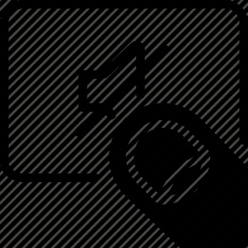 finger, gesture, hand, interaction, mute, volume icon