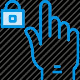 finger, gesture, hand, interaction, lock icon