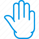 finger, gesture, hand, interaction, stop icon