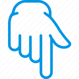 down, finger, gesture, hand, interaction, show icon