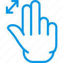 finger, gesture, hand, in, interaction, zoom