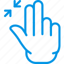 finger, gesture, hand, interaction, out, zoom