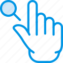 finger, gesture, hand, interaction, search icon