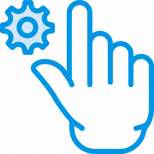 finger, gesture, hand, interaction, settings icon