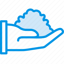 dirt, finger, gesture, hand, interaction, scoop icon