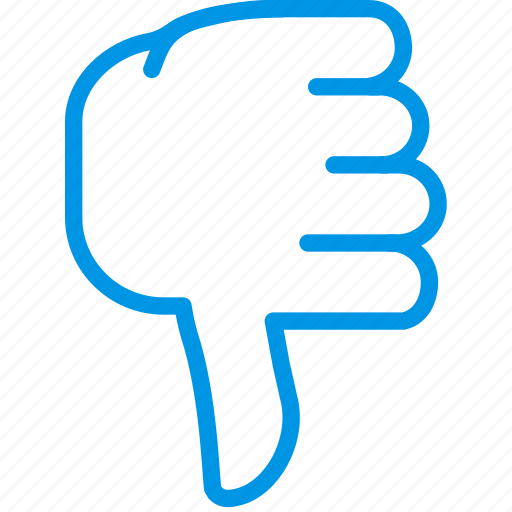 bad, finger, gesture, hand, interaction icon