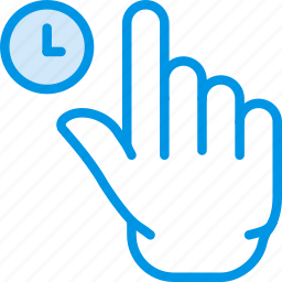 finger, for, gesture, hand, interaction, wait icon
